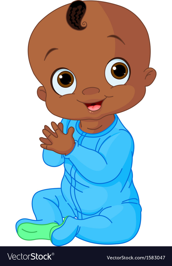 Royalty-Free (RF) Clipart Illustration of an Outlined Baby