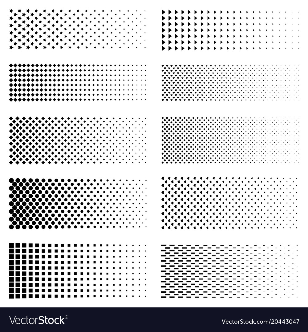 Dotted gradient set