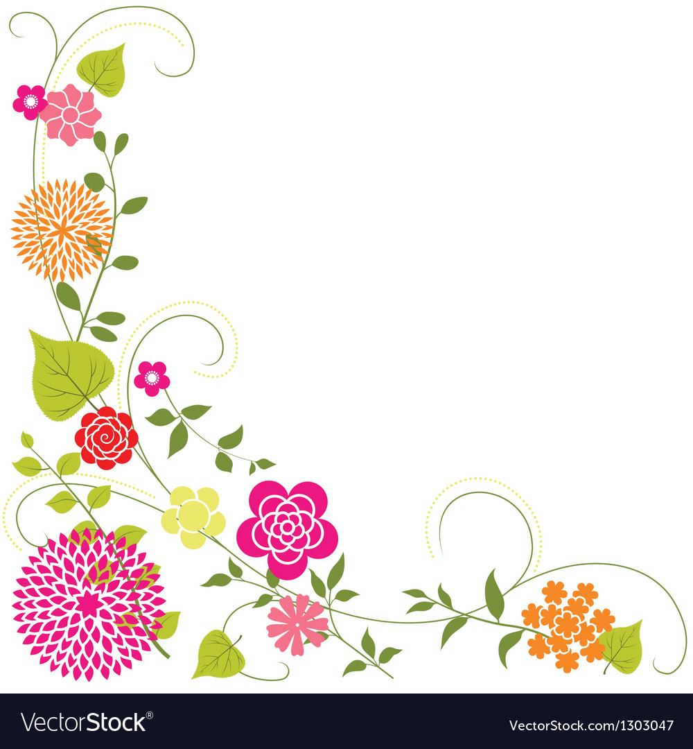 flower background royalty free vector image vectorstock