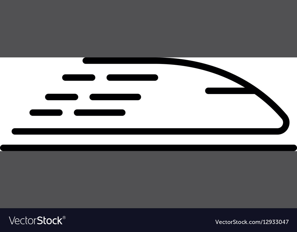 High speed train icon concept for design vector image