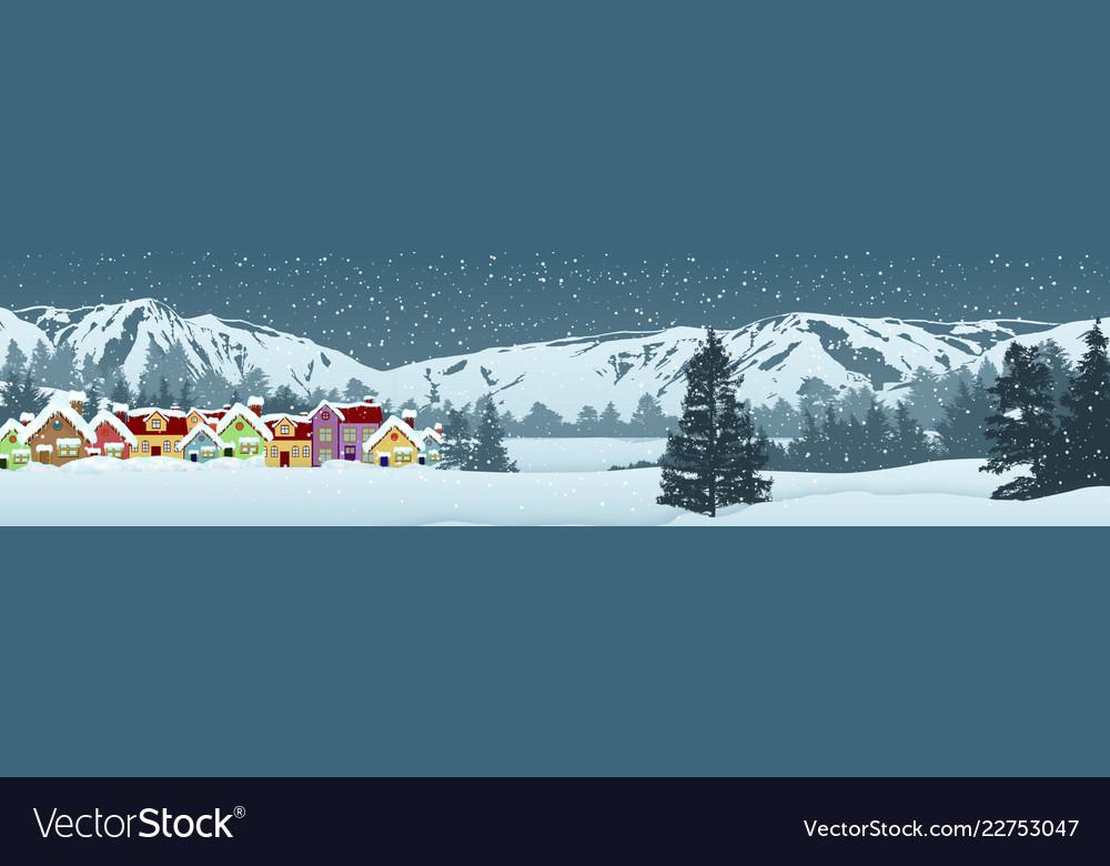 Holiday winter landscape background