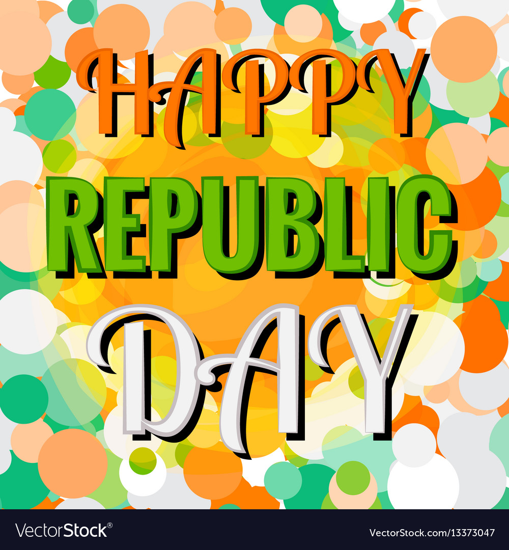 Indian republic day 26 january concept