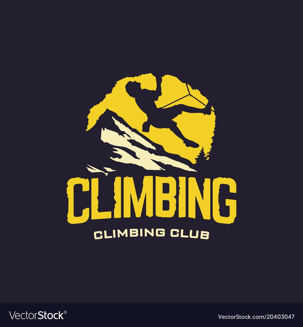 Modern professional logo emblem climbing