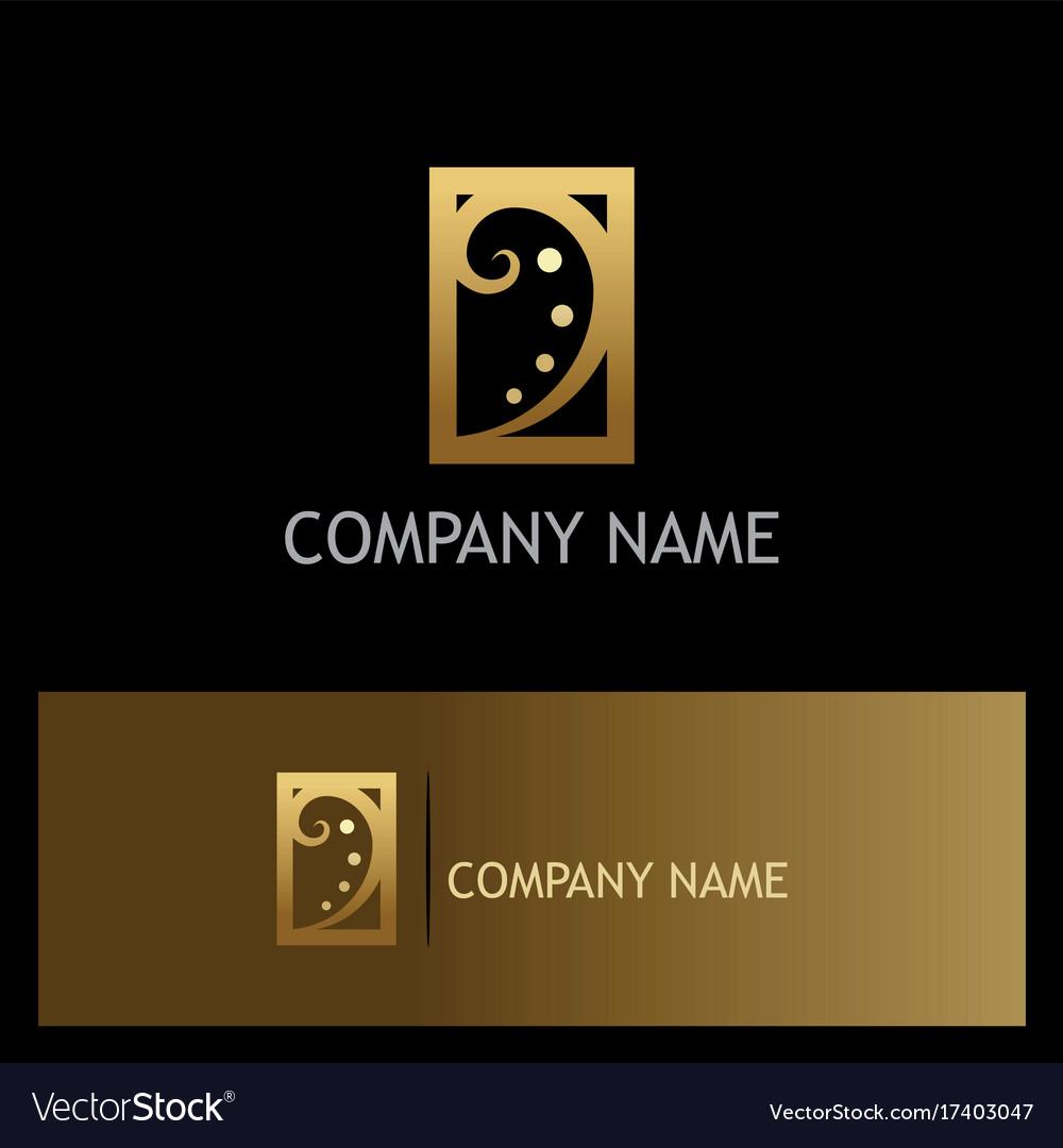 Swirl luxury gold company logo