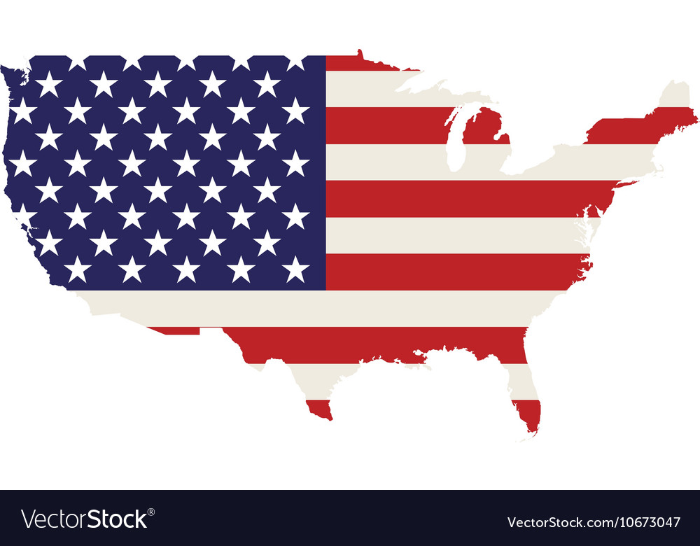 Usa country map Royalty Free Vector Image - VectorStock