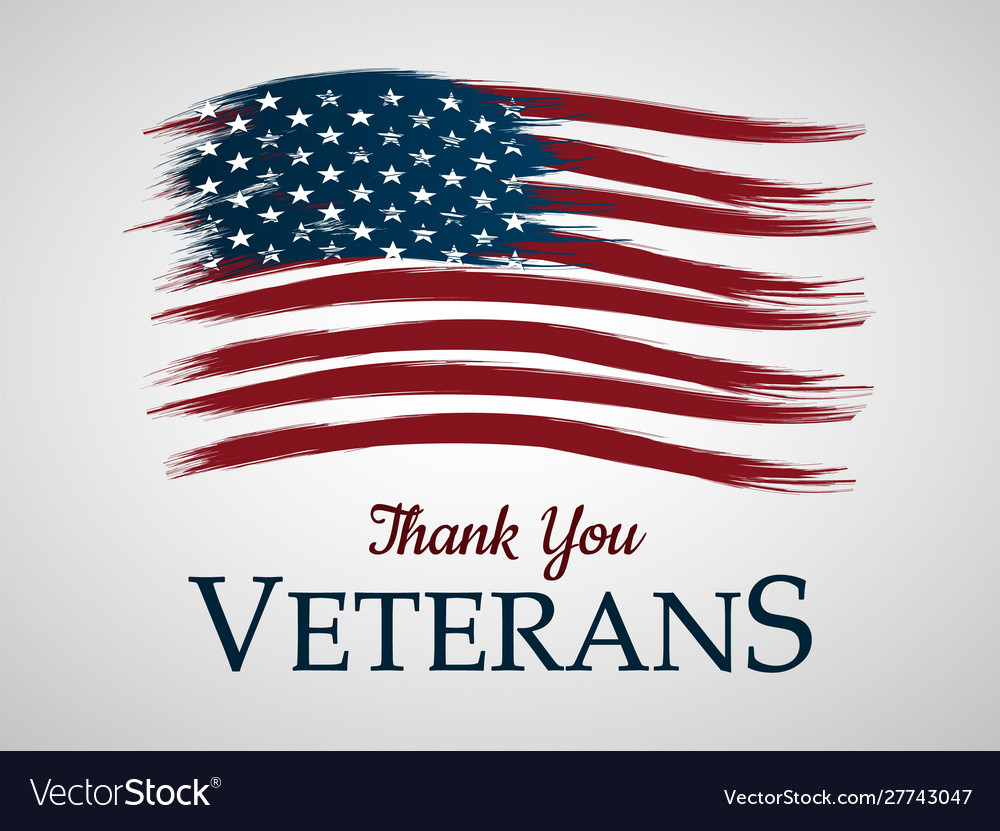 Veterans day background thank you