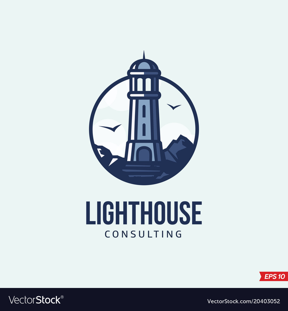 Modern professional logo emblem lighthouse vector image