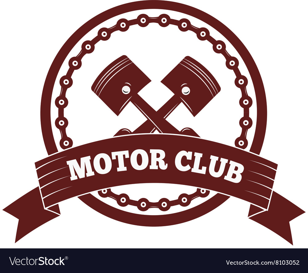 Motorcycle label badge Black icon and moto