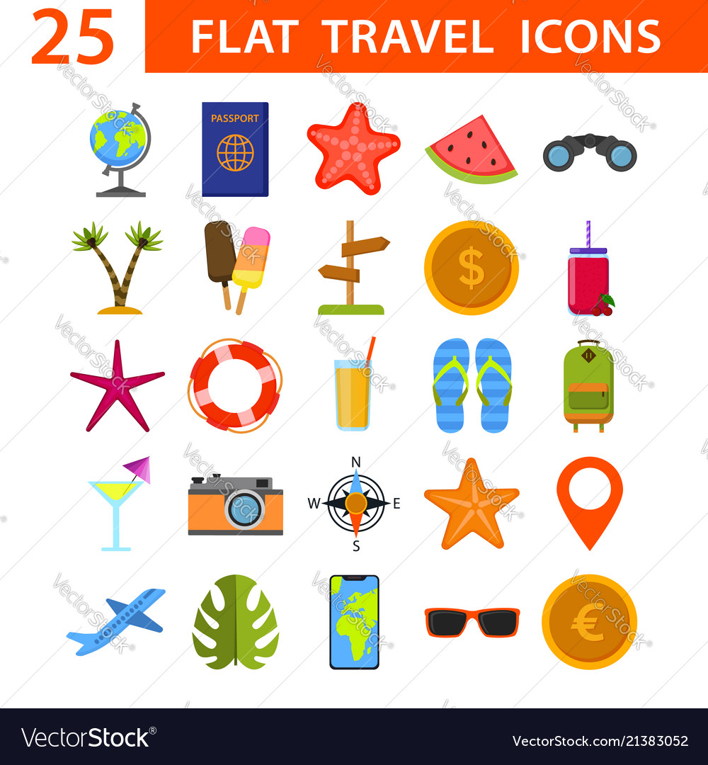 NEW  VACATION World Travel Postcards Camera Map Tickets Suitcase  ATD Stickers