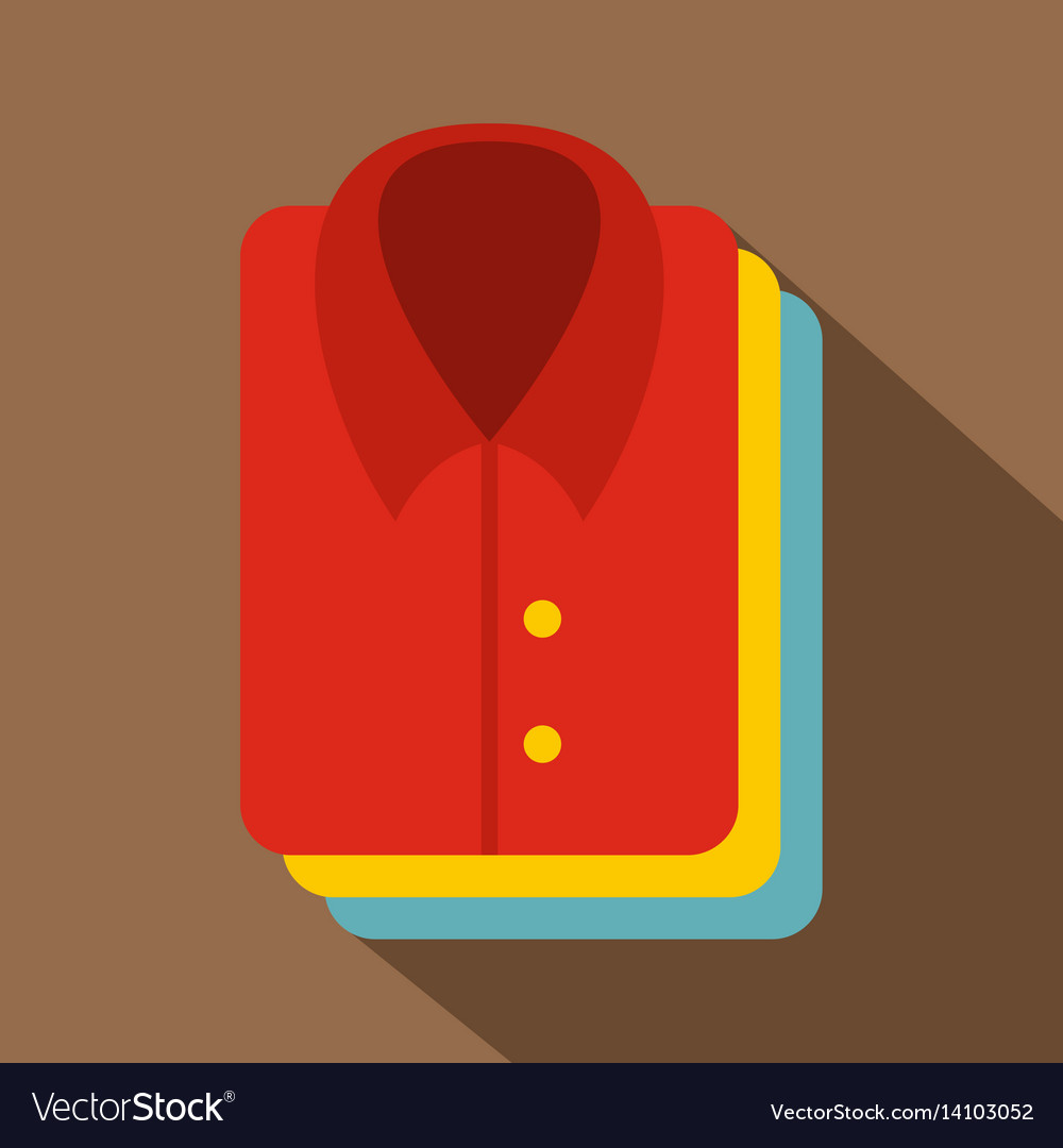 Stack of clothing icon flat style vector image