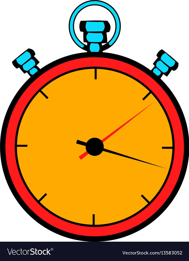 Stopwatch icon cartoon royalty free vector image for Cartoon watches