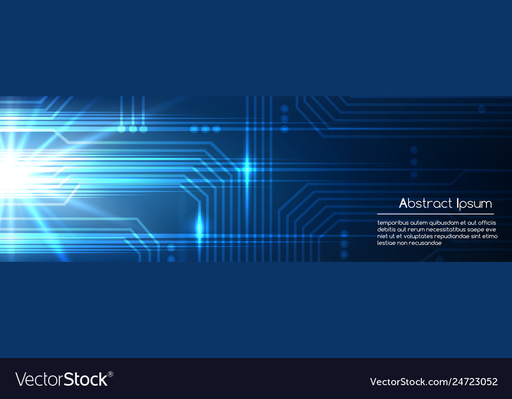 Technologic blue abstract electronic template