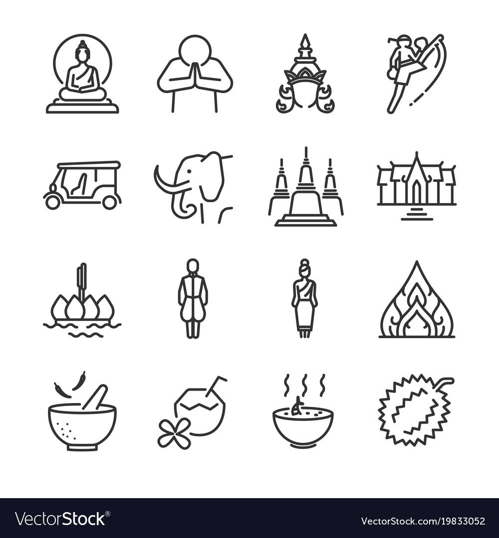 Thai icon set