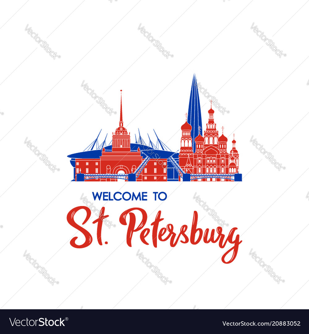 Welcome to st petersburg concept russian