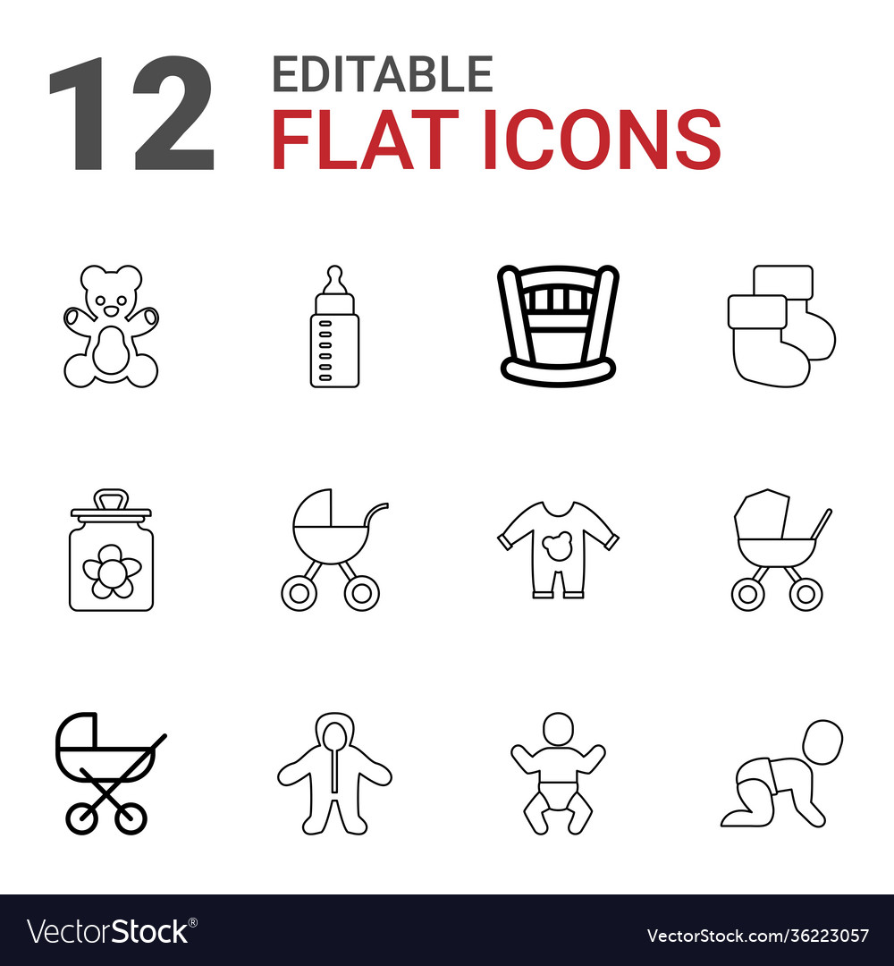 12 baby icons