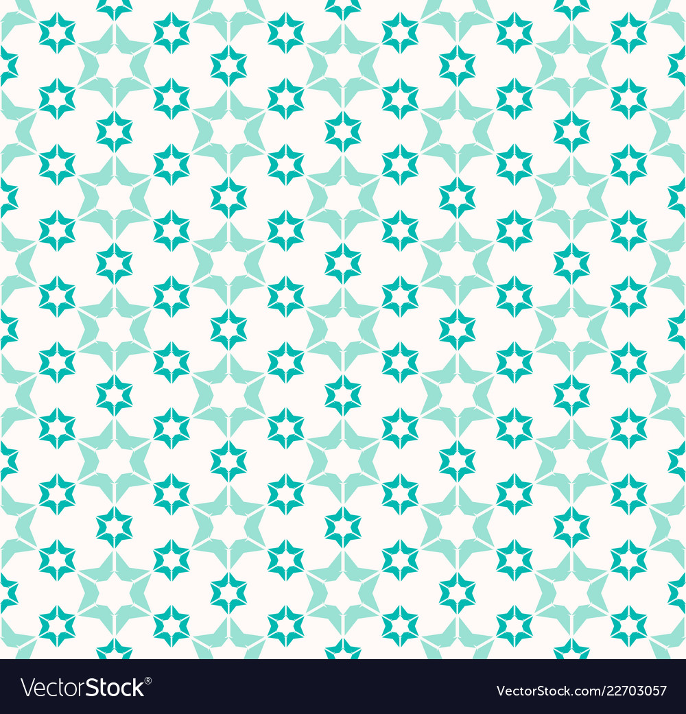 Abstract geometric pattern with flower shapes