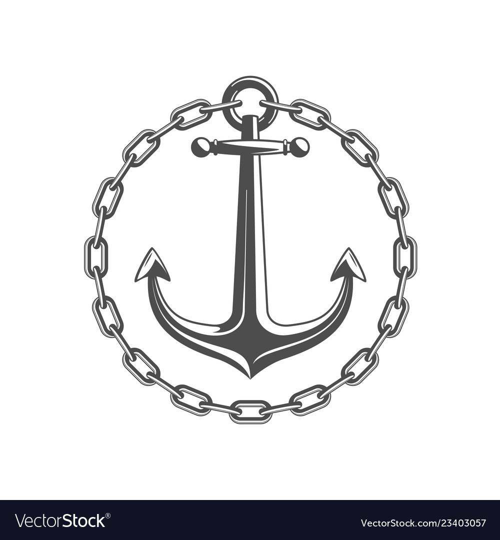 Anchor with circular chain