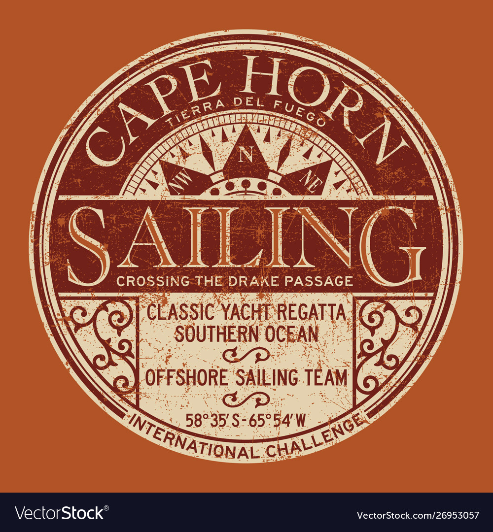 Cape horn sailing regatta nautical badge