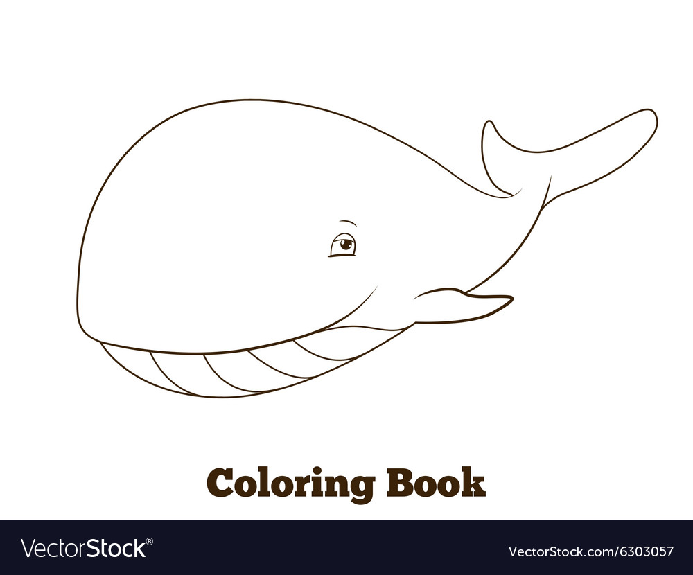 Coloring Book Whale Cartoon Educational