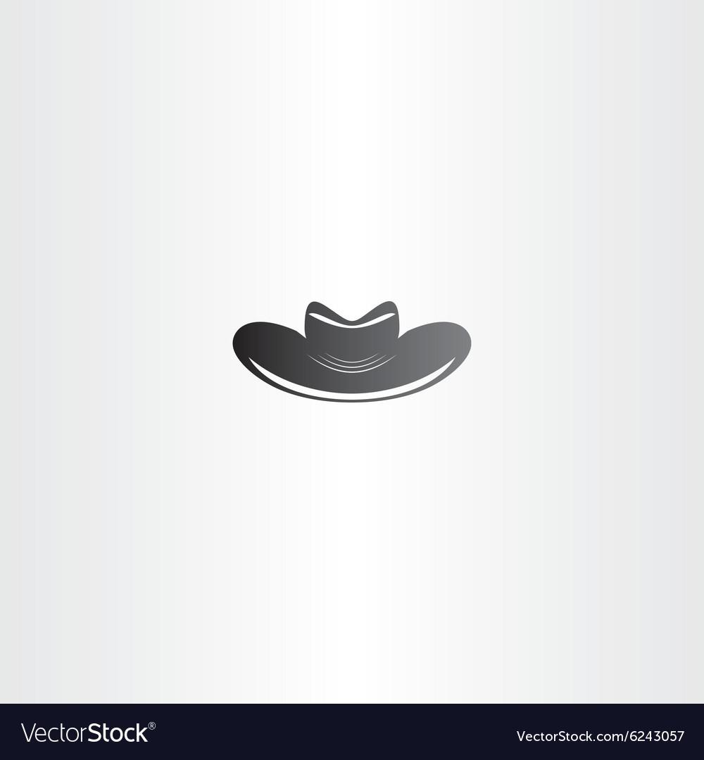 Cowboy hat black icon design vector image