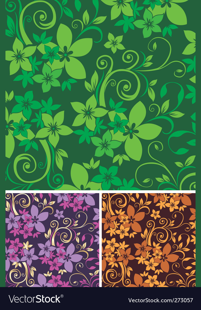 Floral background fabric vector image