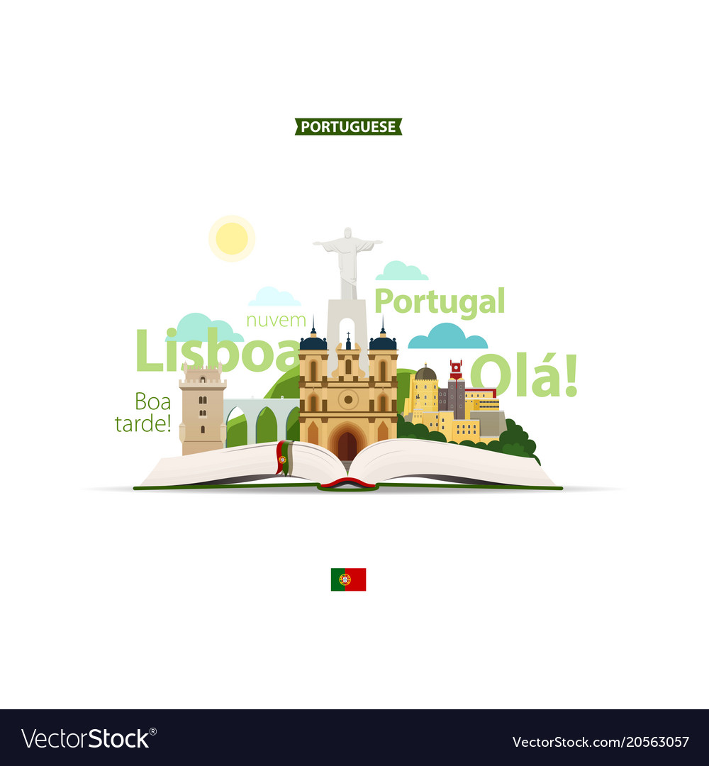 Open book and portuguese sights