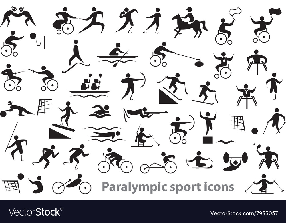 paralympic sport icons royalty free vector image  vectorstock