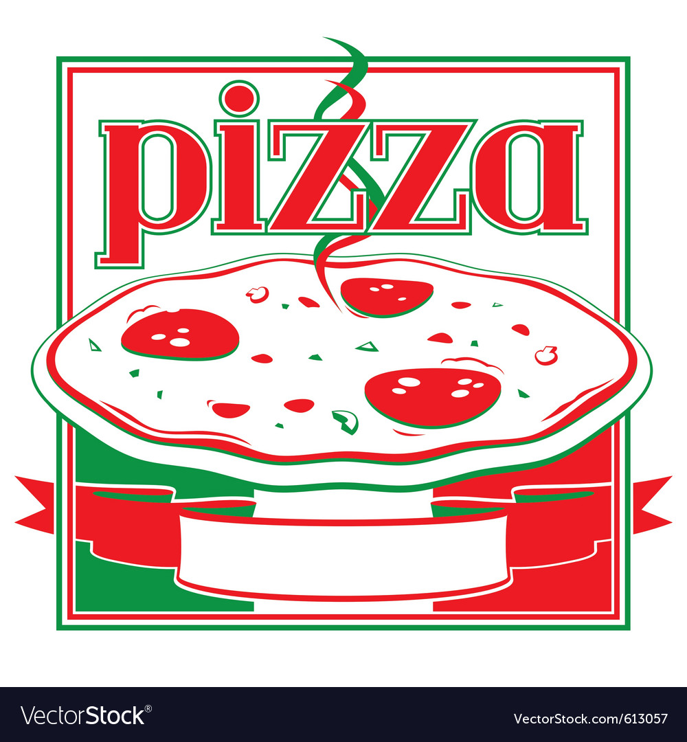 Pizza Box Cover Design Template Royalty Free Vector Image