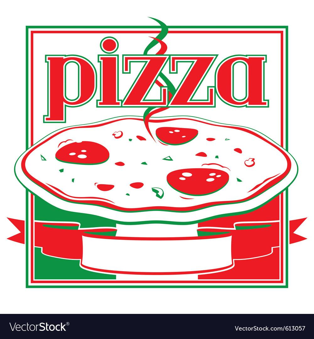 Pizza box cover design template vector image