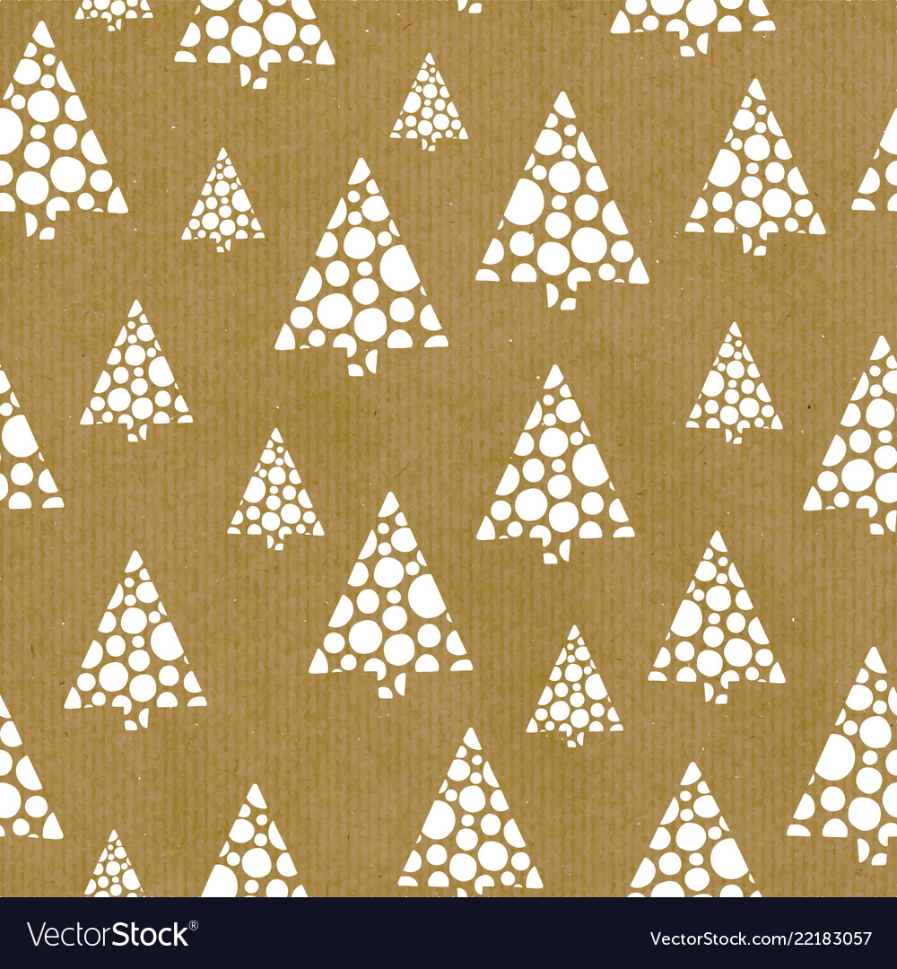 Seamless repeat pattern abstract christmas trees
