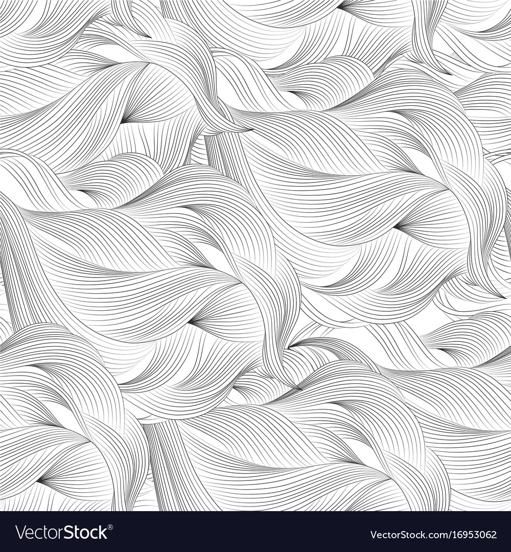 Abstract Cartoon Black White Background Wallpaper Vector Image