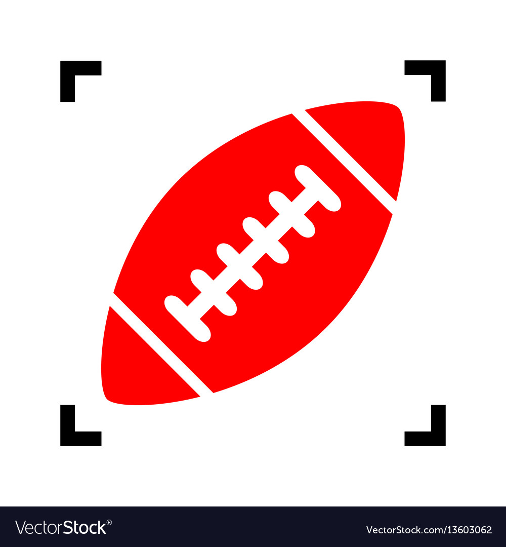 American simple football ball red icon
