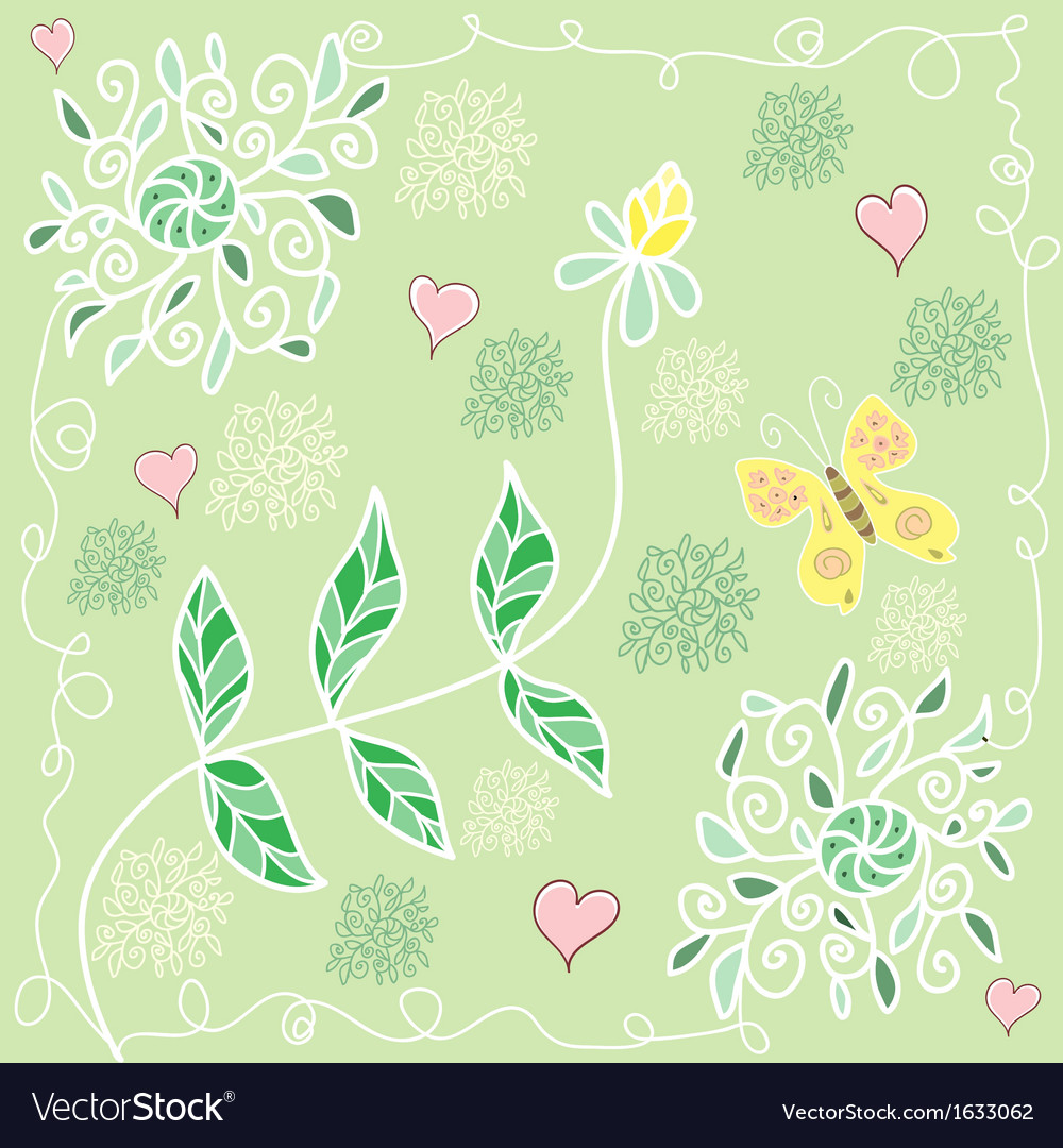Colorful summer floral pattern