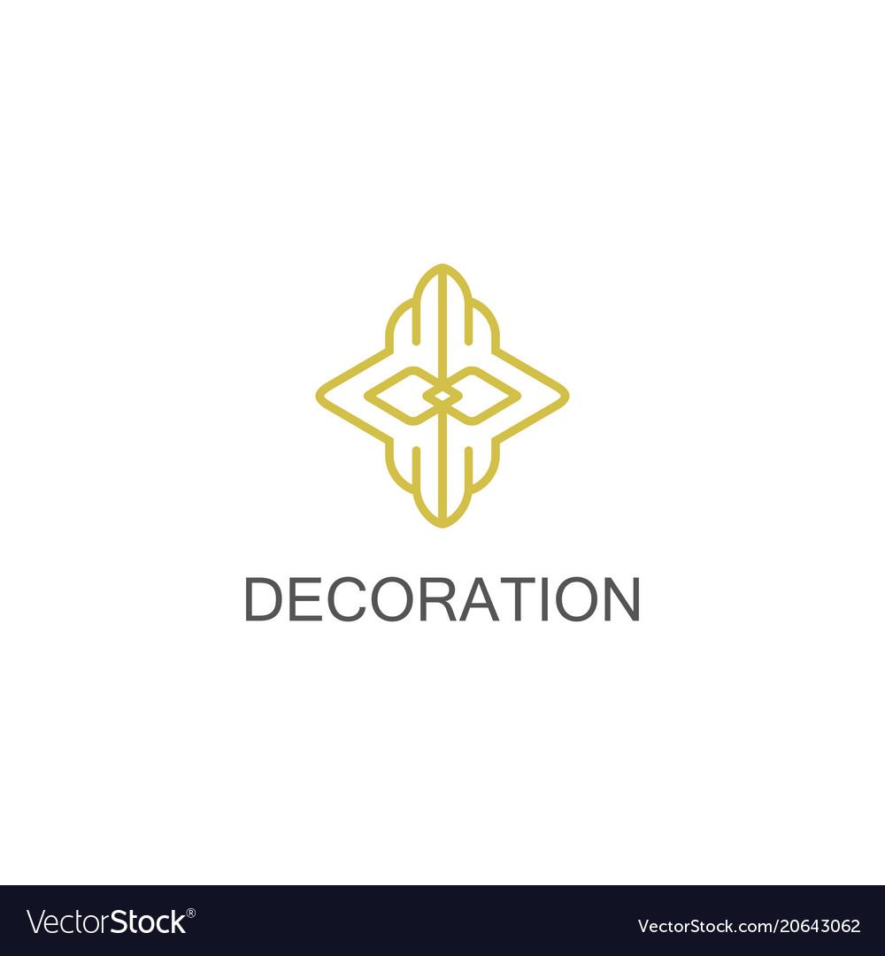Gold decoration logo