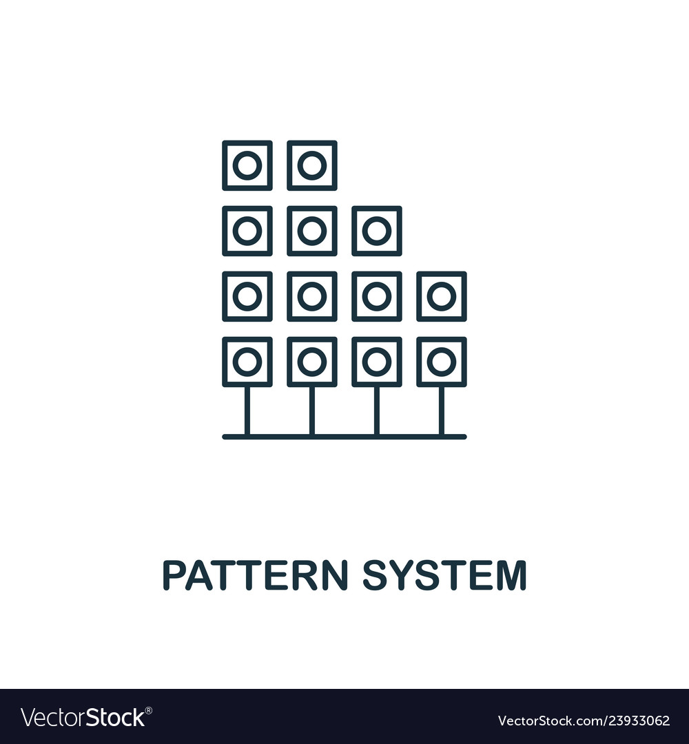 Pattern system outline icon thin line style from