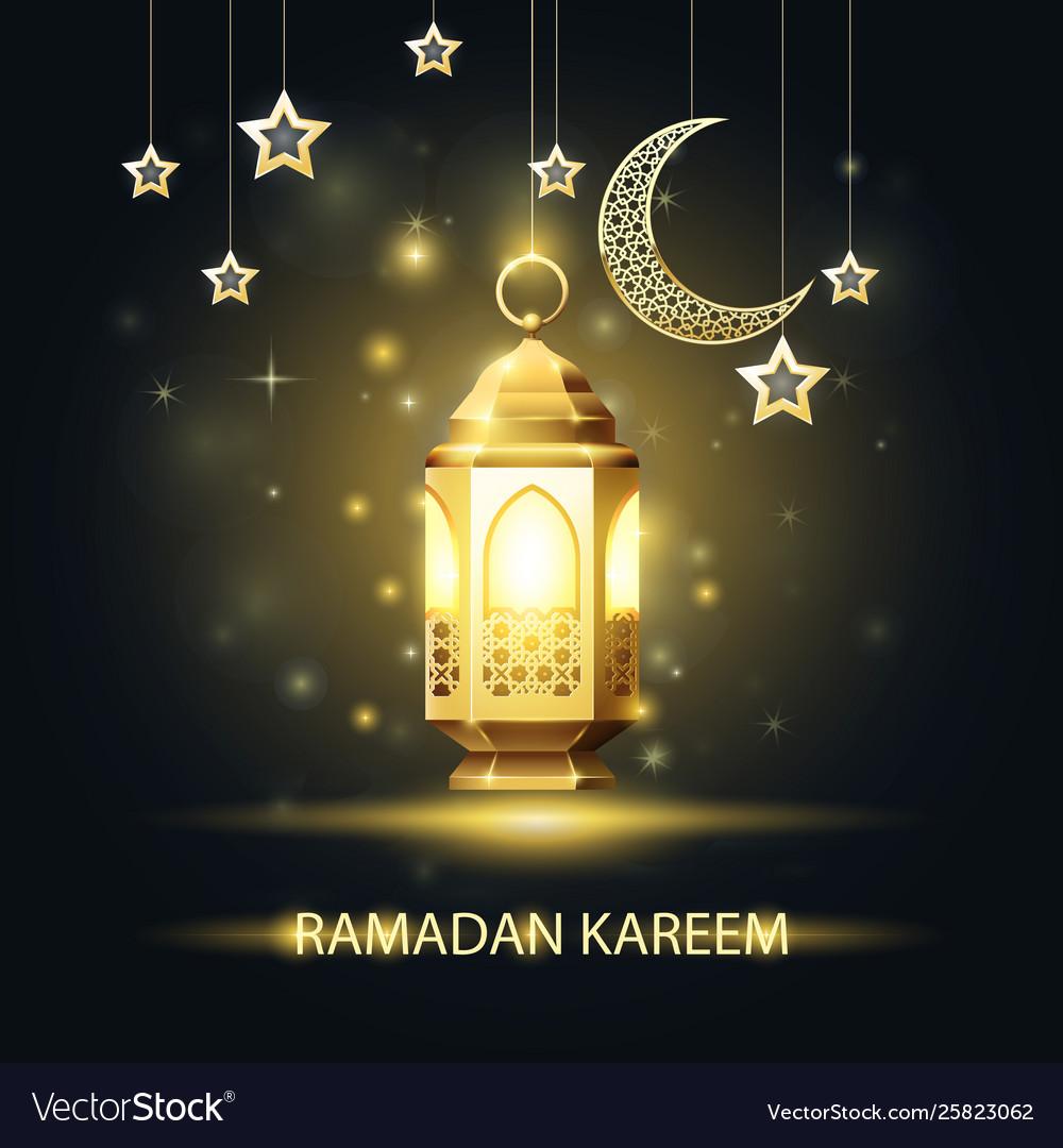 Ramadan kareem greeting card - traditional