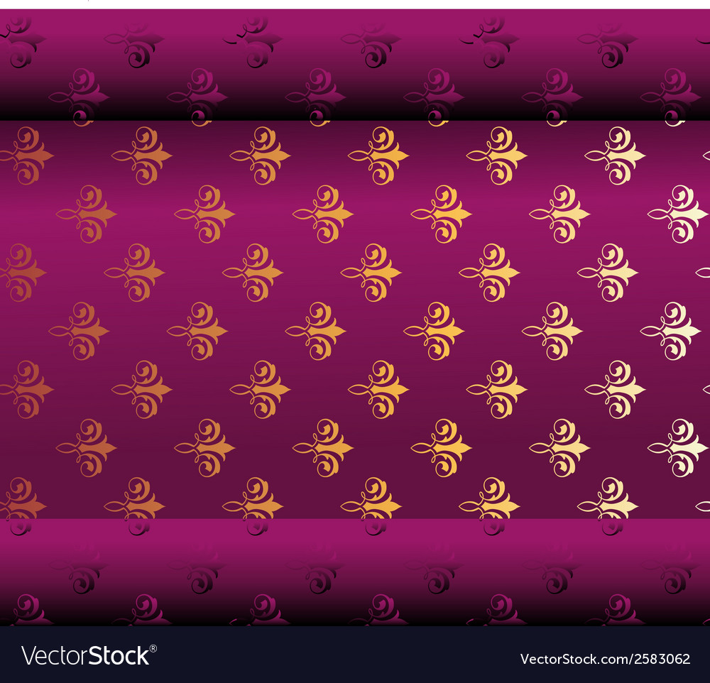 Seamless Dark Purple Wallpaper Vector Image