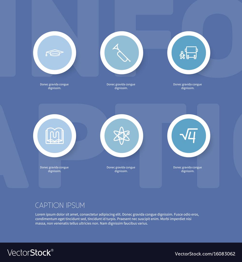 Set of 6 editable teach outline icons includes