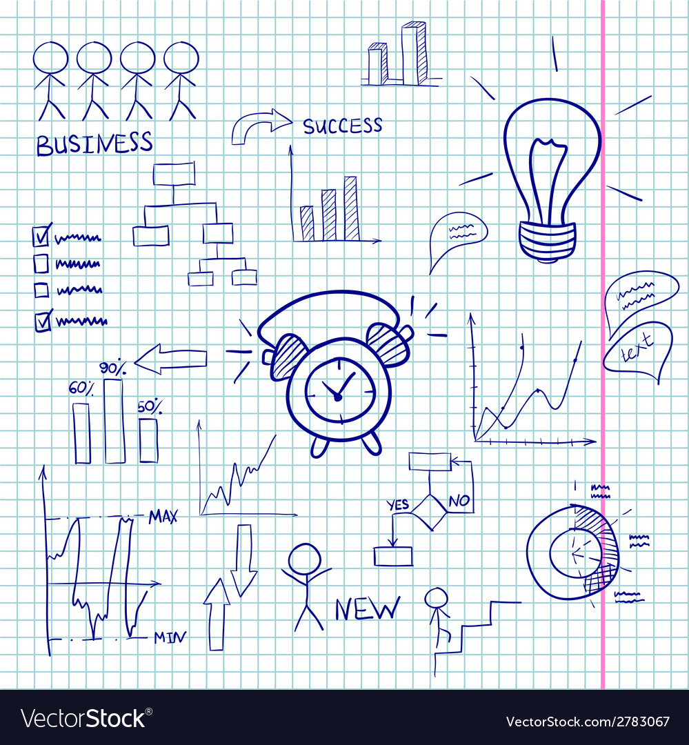 Business doodles infographic