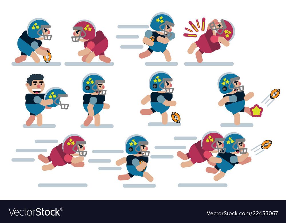 Characters football game flat icon man cartoon