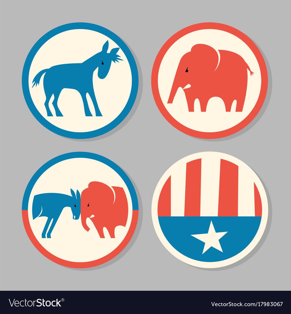 Democrat donkey republican elephant designs
