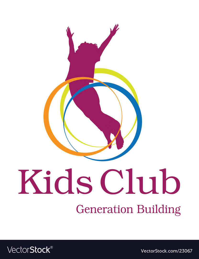 Kids club logo vector