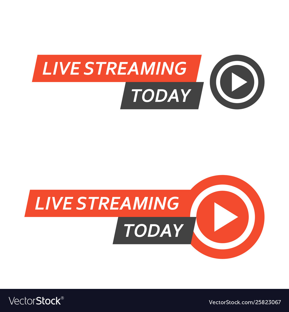 Live streaming logo - play button for online