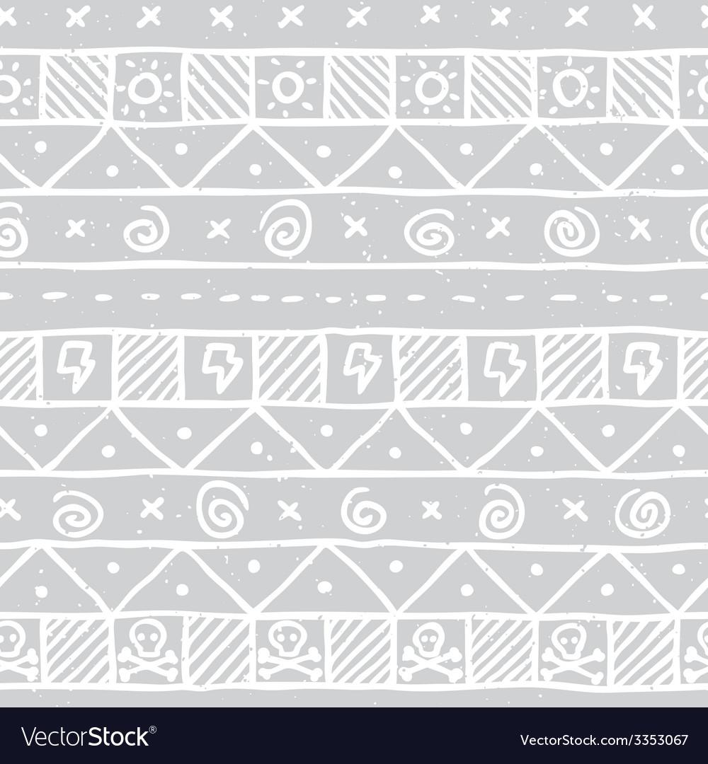 Native skull seamless pattern