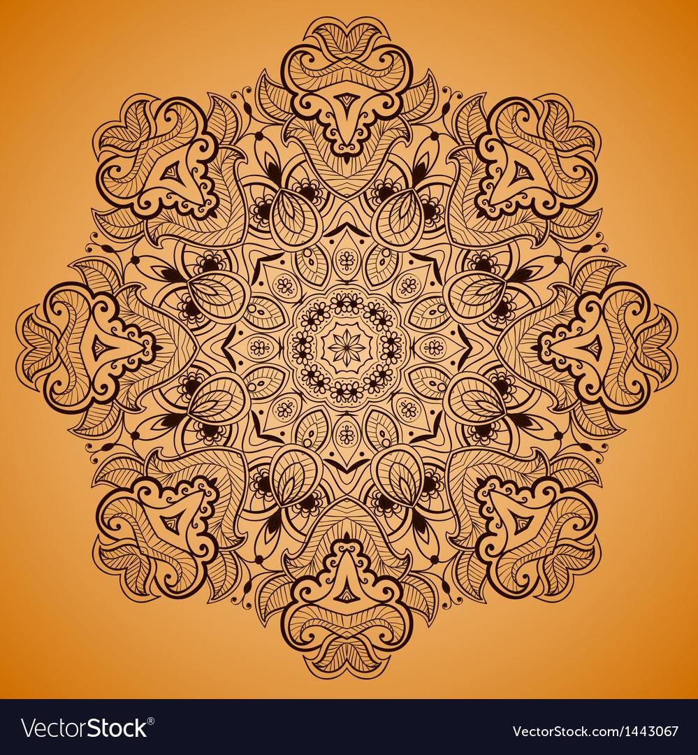 Ornamental round lace pattern is like mandala 2