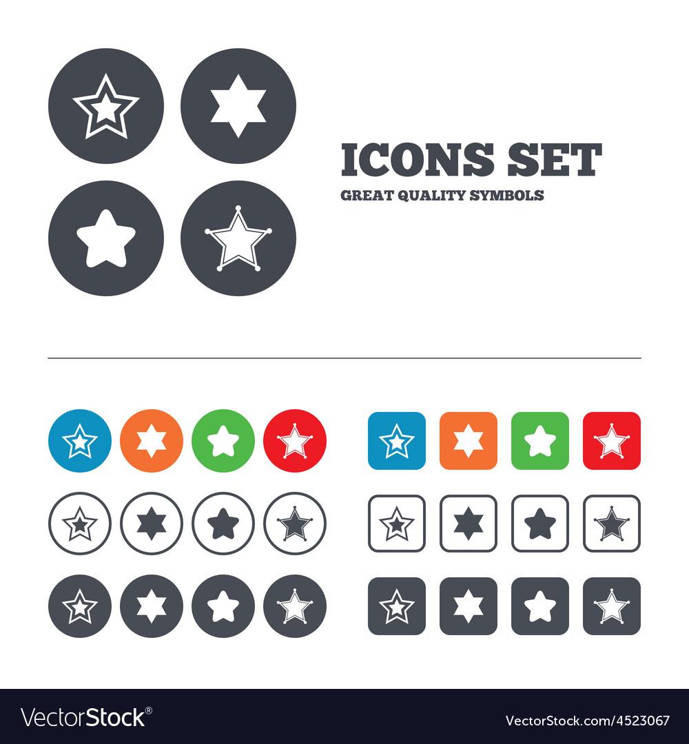 Star Of David Icons Symbol Of Israel Royalty Free Vector