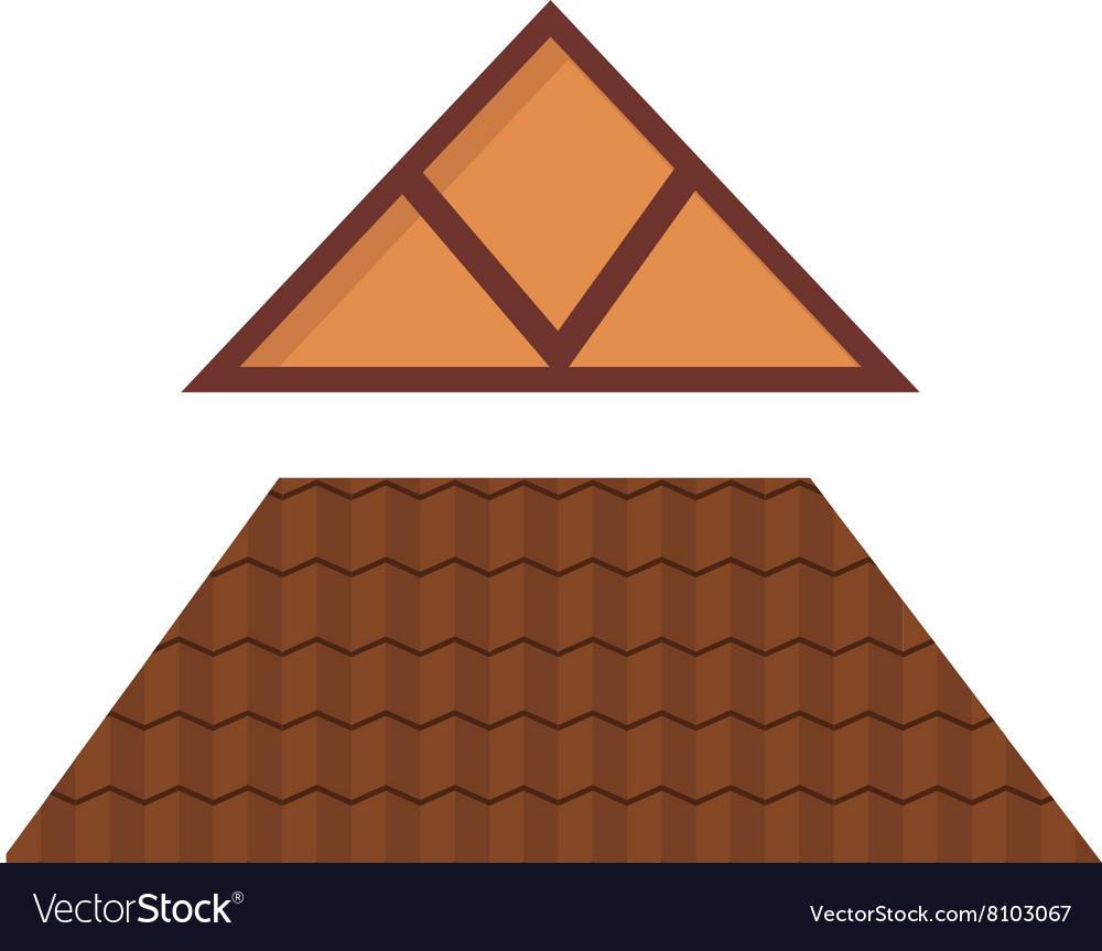 Triangular Metal House Roof Cartoon Architecture Vector Image