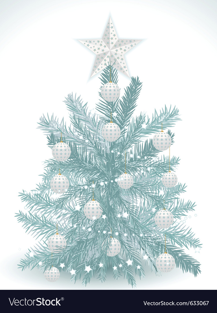Turquoise Christmas Tree.Turquoise Christmas Tree With White Star And Baubl