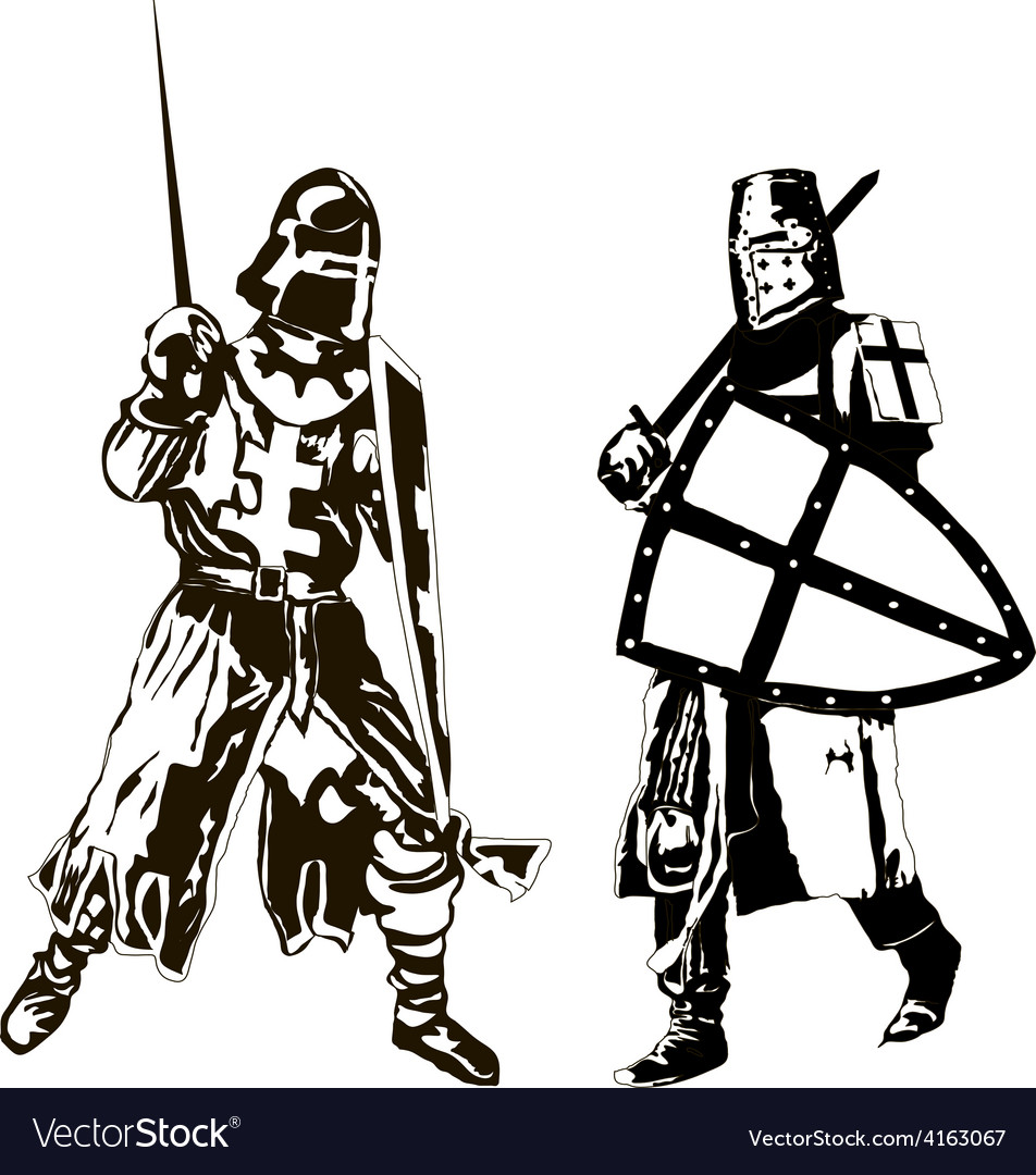 Two Medieval Knights