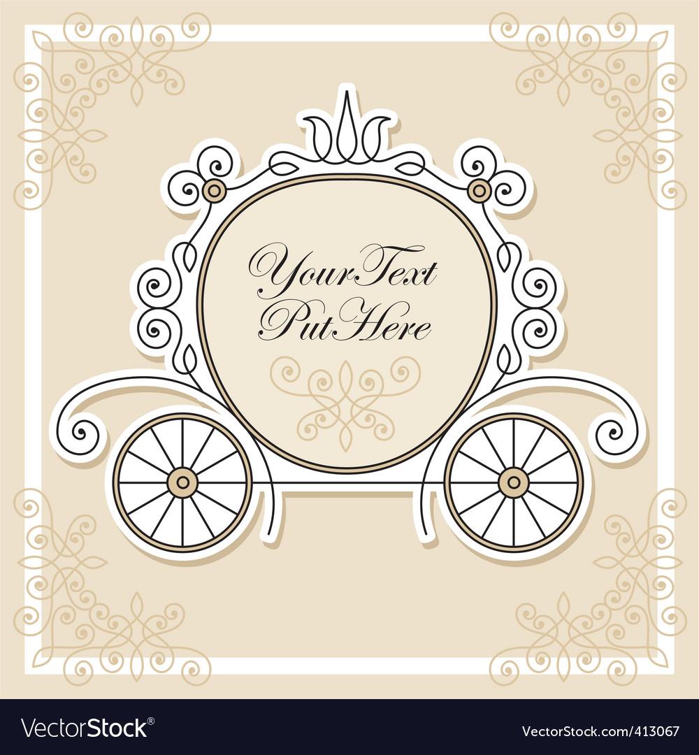 Wedding invitation design vector image